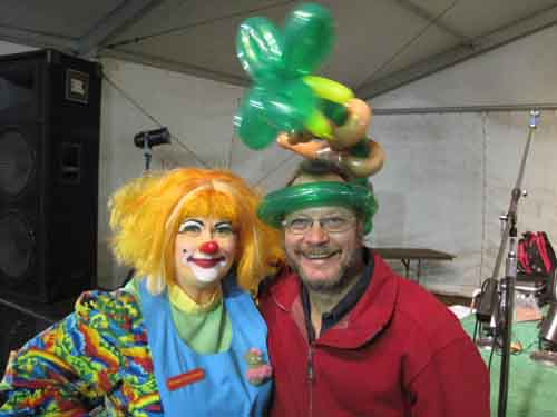 Dave with Pickles the Clown at St. Lucie County Fair, FL